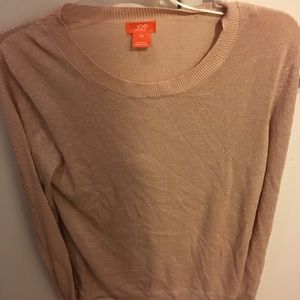 Joe fresh pink blush sweater large